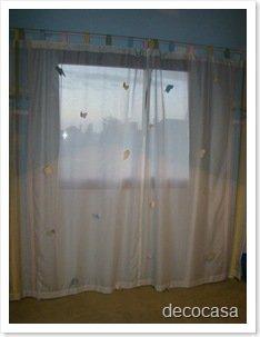 Foto Cortina Mariposas Dormitorio Niñas