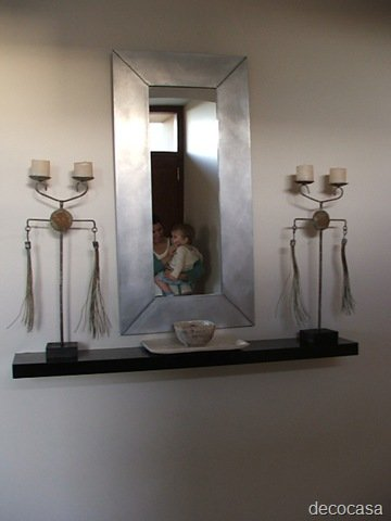 Ideas para paredes dif ciles decocasa for Espejos entrada casa