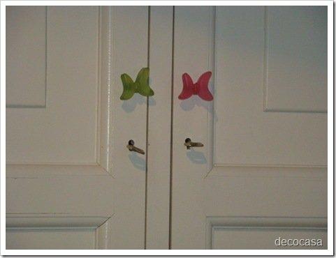 Foto Tiradores Mariposas Dormitorio Niñas