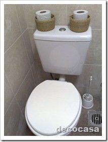 Foto Portarollos cesteria baño