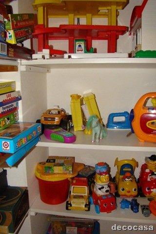 Idea para dormitorios infantiles dep sito de juguetes - Estantes para juguetes ...