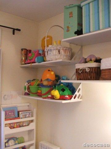 Dormitorios infantiles estantes en poco espacio decocasa - Habitaciones infantiles dobles poco espacio ...