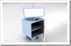 Foto Robot mesa luz abierta Muebles Animados