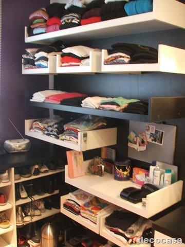 Ideas para espacio de guardado en ambientes peque os for Closet para espacios pequenos