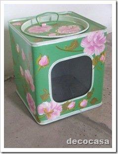 Foto Caja Galletitas verde pintada a mano