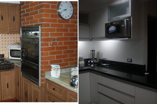 Cocina en blanco y negro decocasa - Esquinero cocina ...