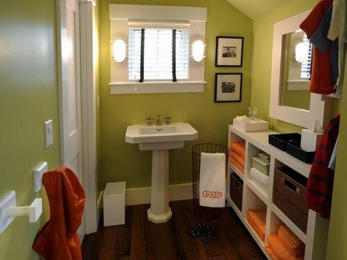 cuarto de bano verde