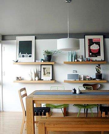 Estantes flotantes c mo instalarlos decocasa - Como hacer estantes de cocina ...