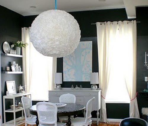 Decoraci n artesanal y reciclada pon linda tu casita - Lamparas de techo hechas en casa ...