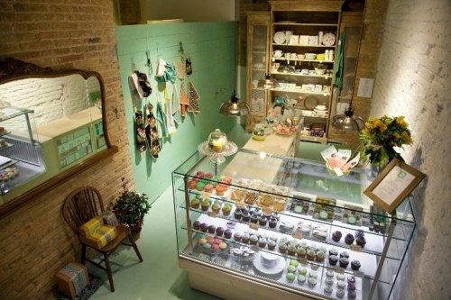 Decoracion Vintage en Tienda de Cupcakes & Cookies – Decocasa