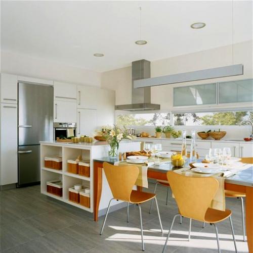 Cocinas blancas y radiantes decocasa for Cocinas blancas