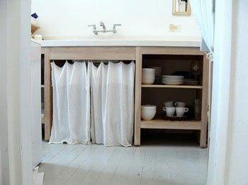 Cortinas en el bajo mesada decocasa for Bajo mesada lavadero