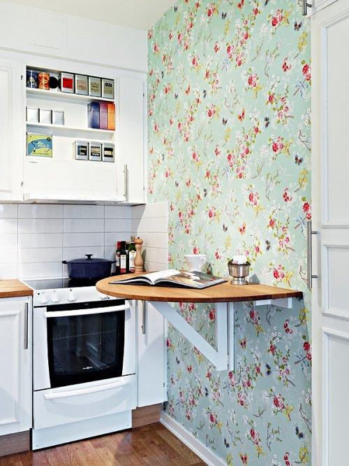 3 ideas para aprovechar el espacio de tu cocina decocasa for Papel mural living comedor