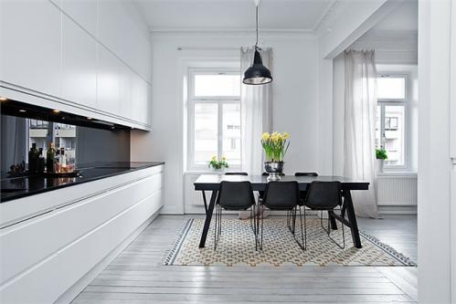Un departamento en blanco, negro y gris – decocasa