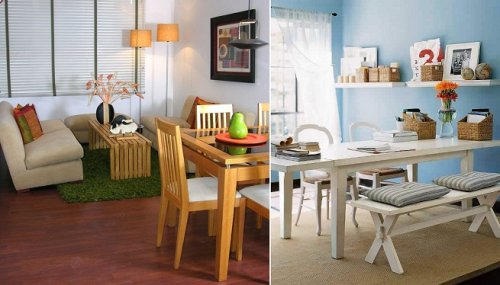 Colores y muebles trucos de decoraci n para espacios for Muebles para deptos pequenos