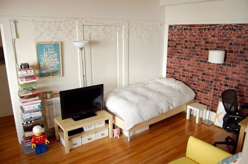 Monoambiente en clave retro decocasa for Como decorar un monoambiente de 20 metros cuadrados