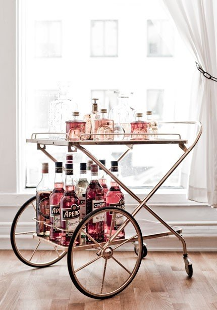Bar carritos vintages para las bebidas decocasa - Carrito bebidas ...