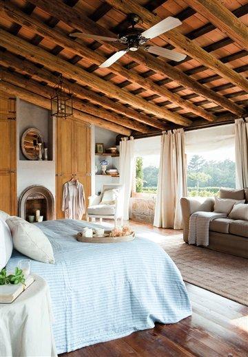 Claves para decorar un dormitorio seg n el estilo r stico for Dormitorio rustico