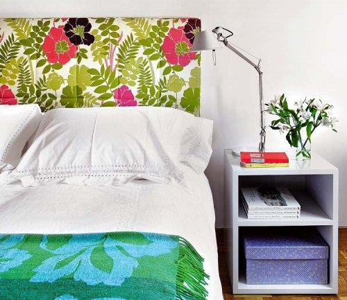 Dormitorios nuevas tendencias en respaldos decocasa - Telas para tapizar cabeceros ...