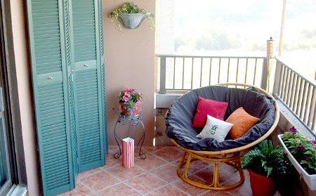 Deco para balcones peque os decocasa Muebles para balcones pequenos