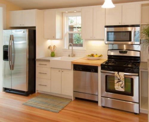 Cocinas peque as que aprovechan el espacio decocasa for Muebles de cocina hasta el techo