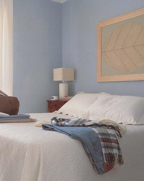 Dormitorios paredes principales sin respaldo decocasa - Cuadros cabecero cama ...