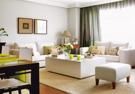 Decoracion y dise o decoraci n living decocasa dise o de interiores - Decorar salon en l ...