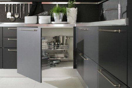 Cocina muebles que ayudan al orden decocasa - Muebles de cocina esquineros ...