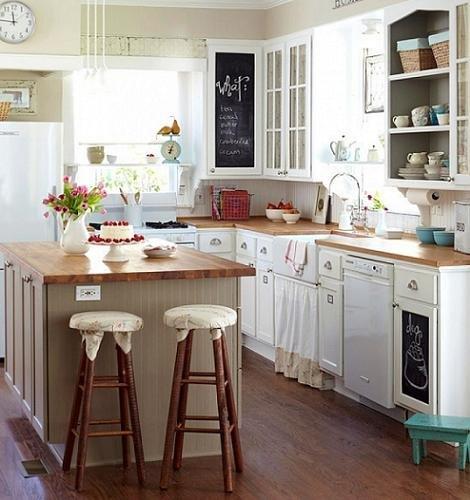 Cocinas blancas y r sticas decocasa for Cocinas rusticas blancas