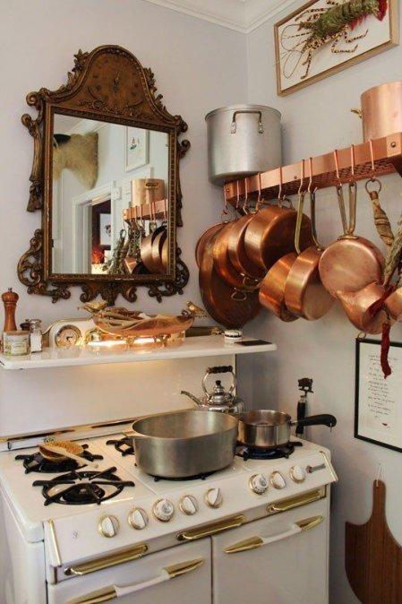 cobre cocina ollas