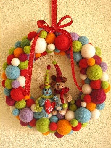 Navidad adornos para la puerta decocasa - Adorno puerta navidad ...