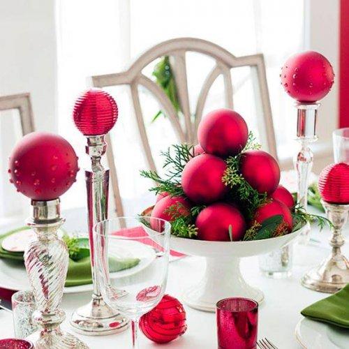 navidad roja y verde