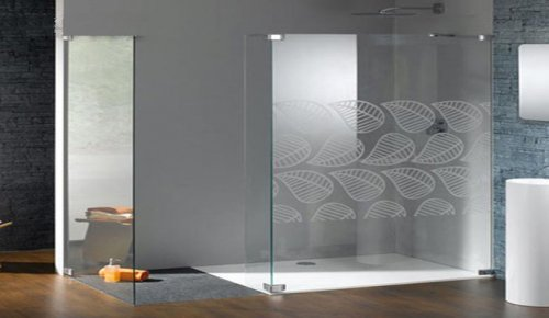 Mamparas de vidrio para el ba o moderno decocasa - Mamparas de bano de cristal ...