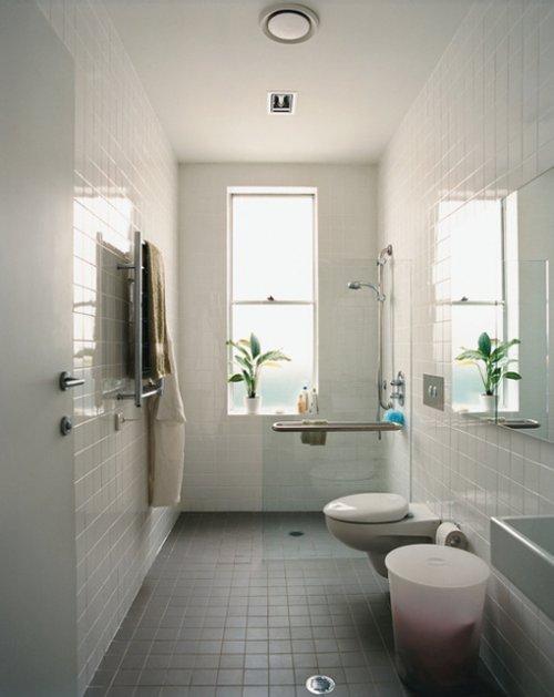 Baño Ducha Diferencia:Baños con ducha y planta rectangular – Decocasa