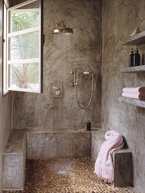 ducha cemento