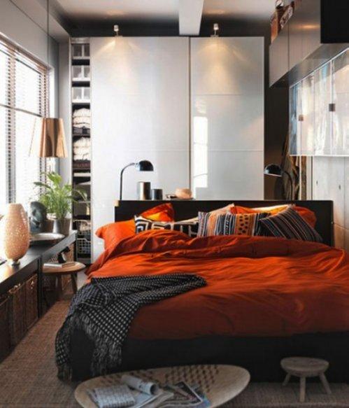 Espacio de guardado en dormitorios peque̱os Рdecocasa