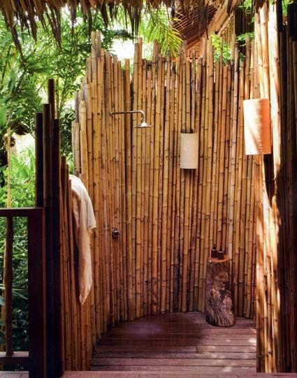 ducha bambu