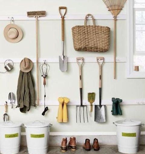 Ideas para poner en orden el garage y el jard n decocasa for Herramientas para el jardin