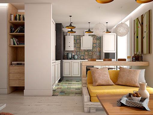 Decotour un departamento de 50 mts2 bien aprovechados for Decoracion de apartamentos de 50 metros