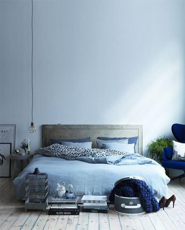 cama azul