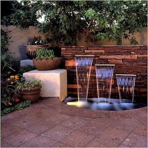 Fuentes de agua para el jardn o el patio Decocasa