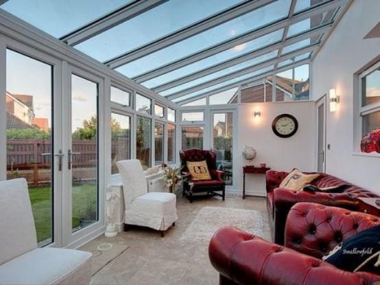 Paredes y techos de vidrio en el hogar decocasa - Pared acristalada ...