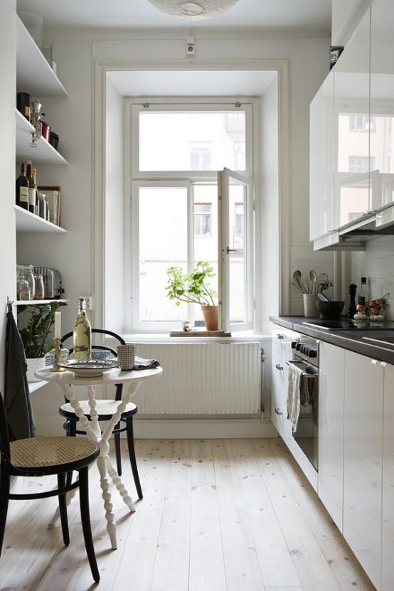 cocinas angostas decocasa