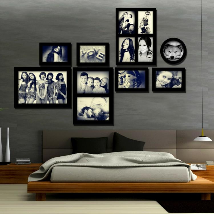 Paredes ideas para decorar con fotos decocasa - Cuadros con fotos familiares ...