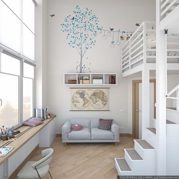 Dormitorios en doble altura decocasa - Dormitorios infantiles dobles ...