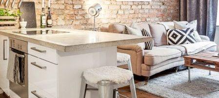 Living  Sugerencias para separar espaciosFotos de livings   Decocasa. Revista Living Decoracion Monoambientes. Home Design Ideas
