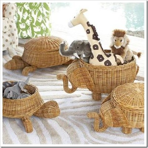 Foto cestas animales Pottery barn kids