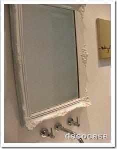 Foto Espejo para baño marco antiguo