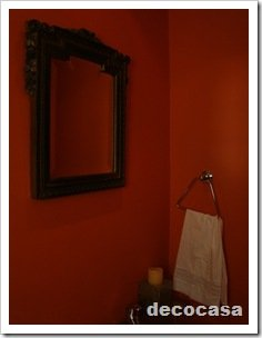 Foto Toilette Espejo Marco Oscuro