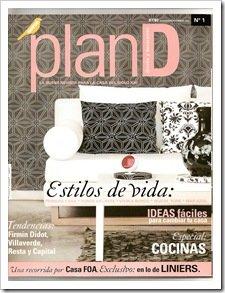 Foto Portada de Revista de diseño y decoración PLAN D